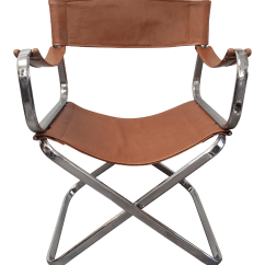 Folding Chair Leather Plastic Chairs For Sale Italian Chrome By Arrben Chairish