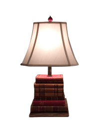 Lamp Made of Antique Leather-Bound Books | Chairish