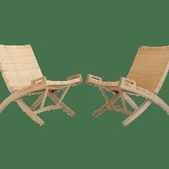 Hans Wegner Chairs Design Within Reach Soccer Chair And Ottoman Set Folding Lounge A Pair Chairish