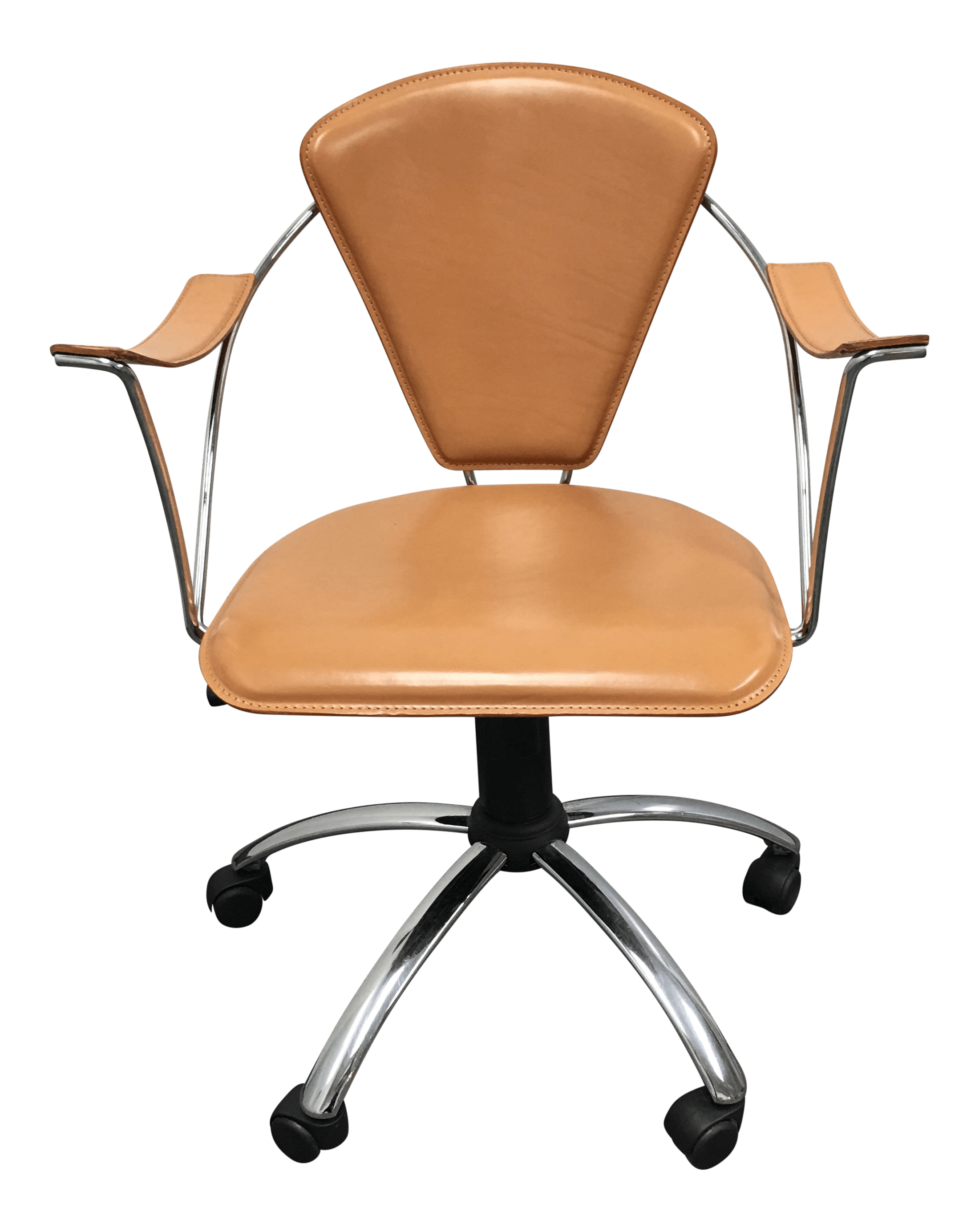 Colored Office Chairs Italian Cognac Colored Leather Office Chair Chairish