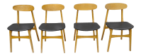 Mid-Century Danish Modern Curved Back Dining Chairs - Set ...