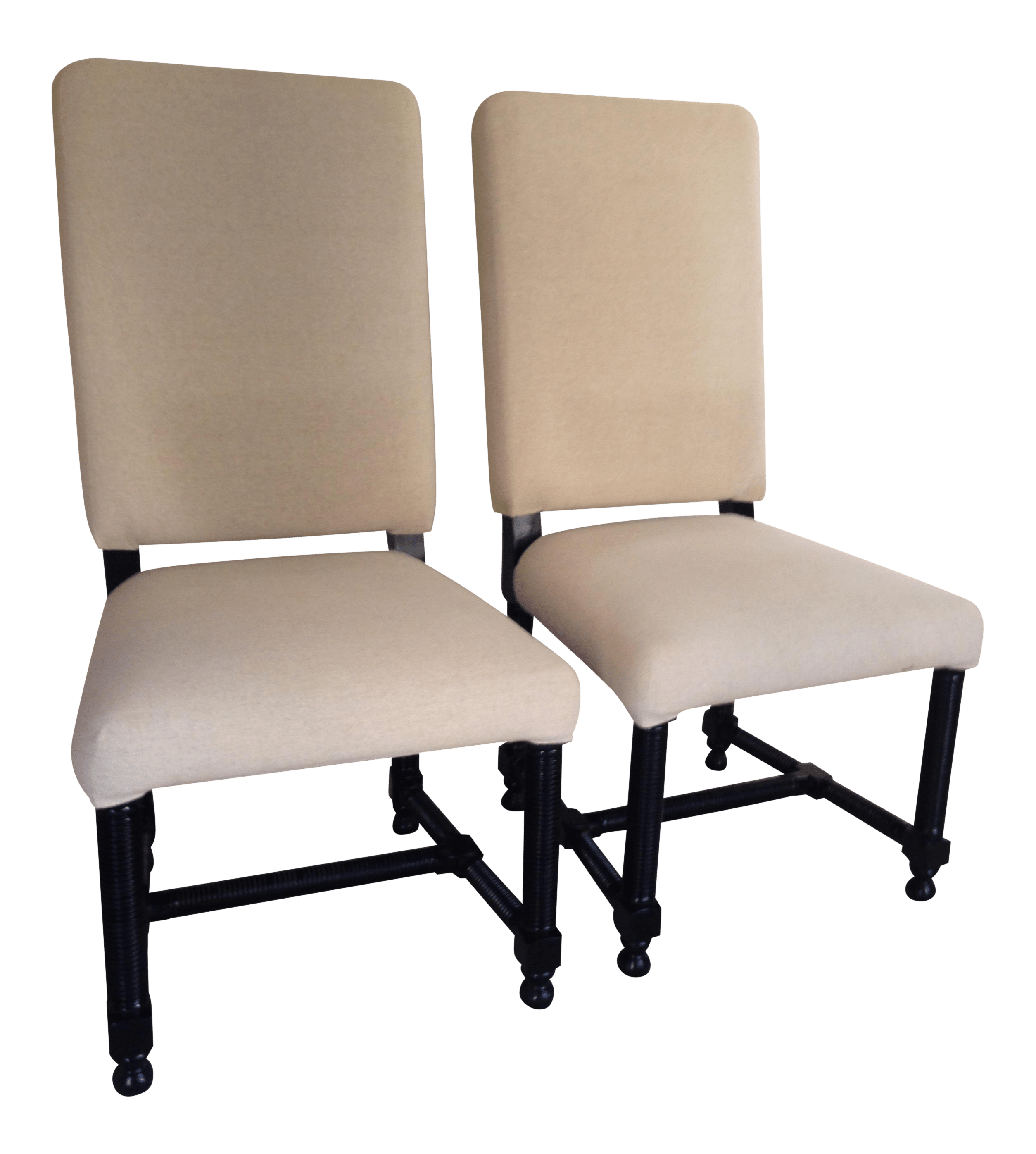 noir furniture chairs high back wicker dining side accent by a pair chairish