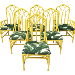 Banana Leaf Dining Room Chairs Shower Chair With Arms Cpt Code Tropical Print Bamboo Rattan By