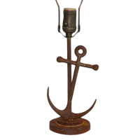 Nautical Anchor Table Lamp | Chairish