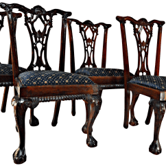 Chippendale Rocking Chair Best For Lower Back Pain Mahogany Dining Chairs Set Of 4 Chairish