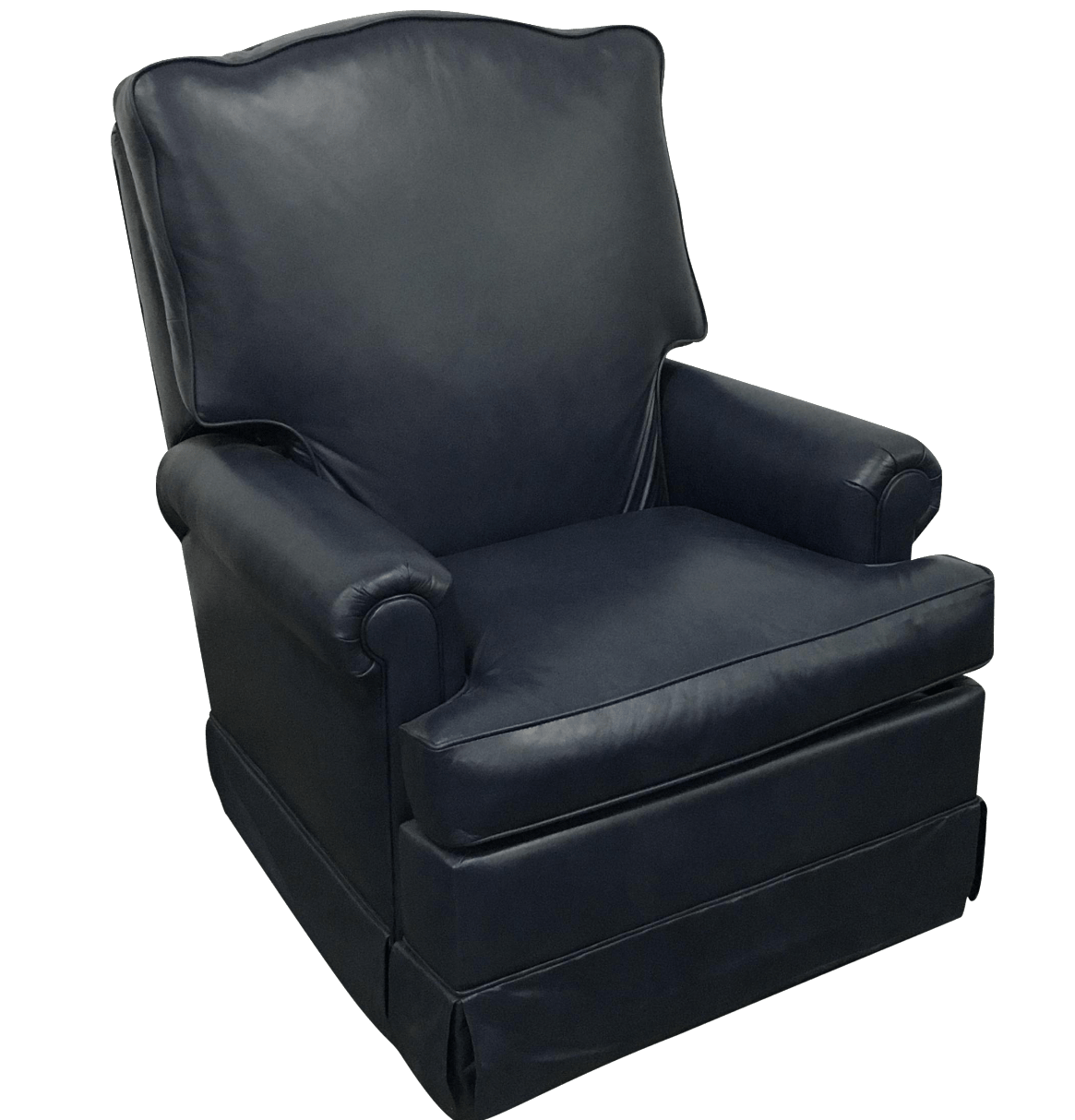 Navy Club Chair Navy Blue Swivel Recliner By Leathercraft Chairish