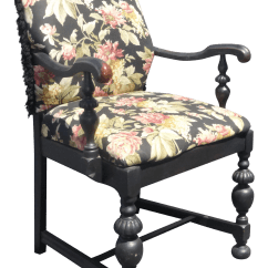 French Country Accent Chair Swivel Hong Kong Black Floral Design Chairish