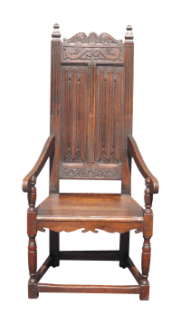 Antique Spanish Revival Carved Throne Chair 6 Ft | Chairish