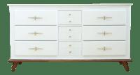 Vintage Mid-Century Modern White Lacquer Dresser | Chairish