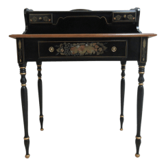 Hitchcock Desk And Chair Poker Chairs For Sale Ethan Allen Paint Decorated Writing Chairish