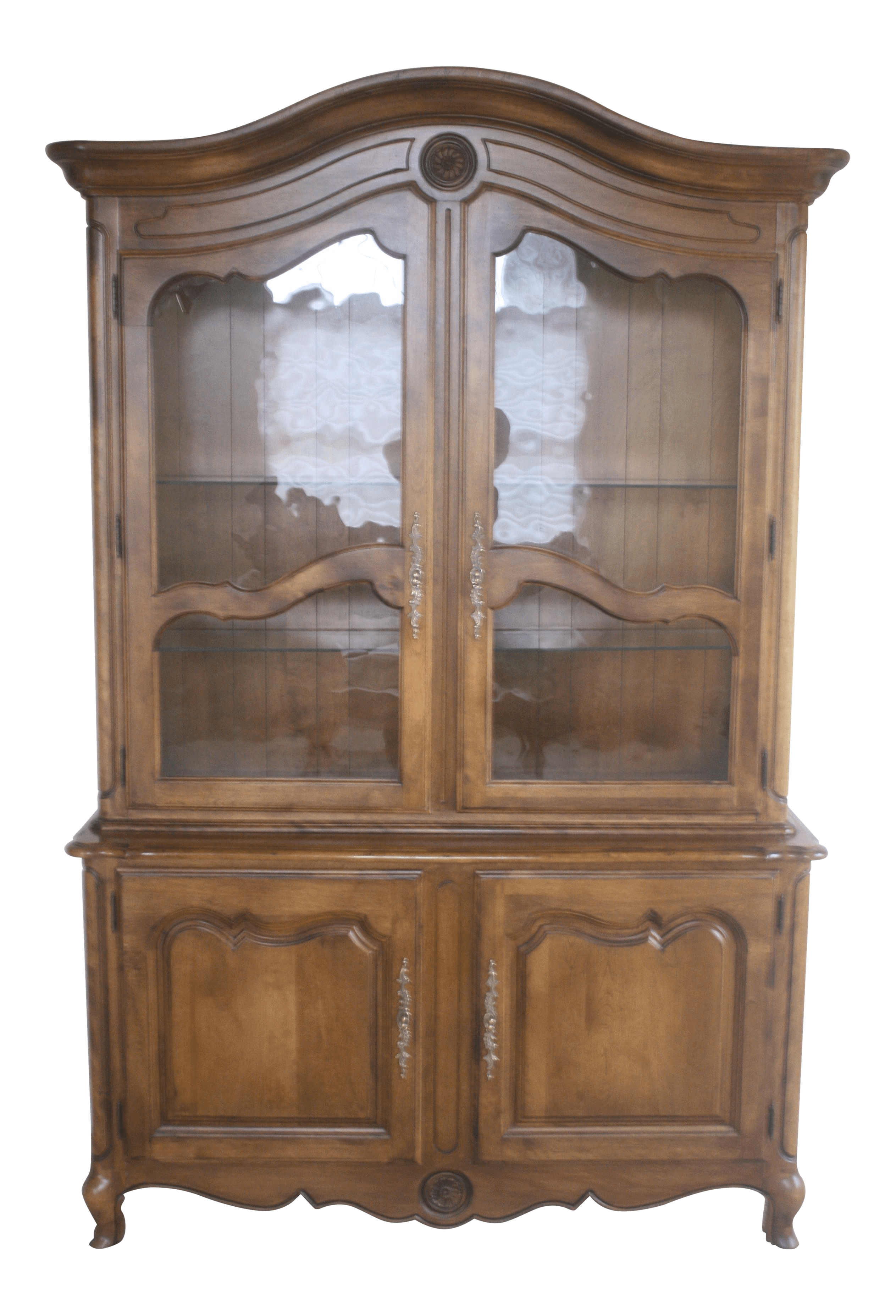 Ethan Allen Country French China Cabinet and Buffet  Chairish