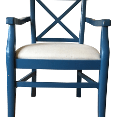 Modern Blue Chair French Round Back Dining Chairs Mid Century Accent Chairish