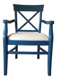 Mid-Century Modern Blue Accent Chair   Chairish