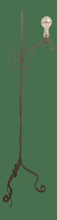 Vintage Iron Floor Lamp   Chairish