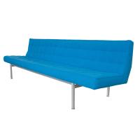 Knoll Armless Aluminum Frame Sofa | Chairish
