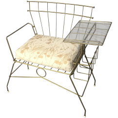 Chair Attached Table Building A Mid Century Metal With Rack Chairish