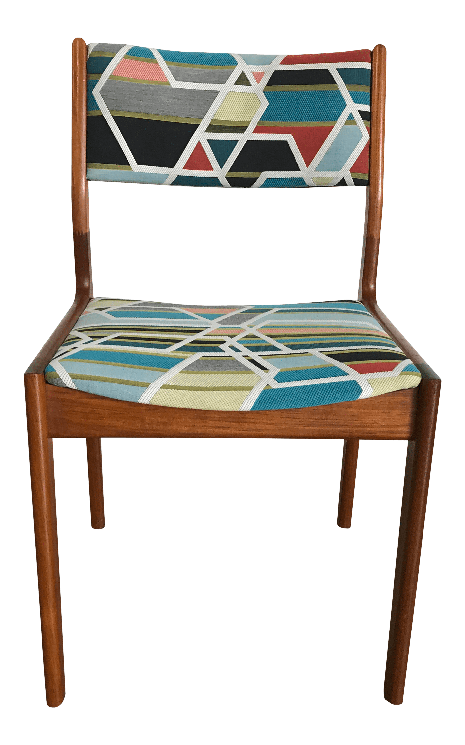 geometric accent chair extra large beach chairs mid century teak chairish