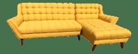 Bright Yellow Mid-Century Sectional Sofa | Chairish