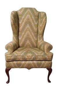 Mid-Century High Back Wing Chair | Chairish