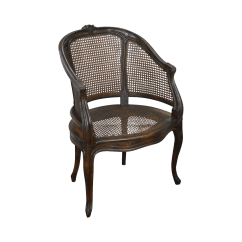 French Barrel Chair Mat Bunnings Louis Xv Style Back Caned Bergere