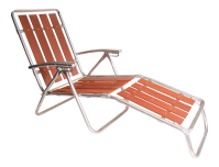 Mid Century Redwood Aluminum Folding Chaise Lounge Chair ...