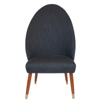 Danish Spoon Back Occasional Slipper Chair | Chairish