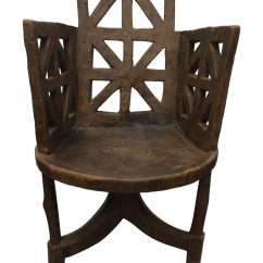 Wooden Hand Chair Bali How To Upholster A Back Antique Ethiopian Jimma Carved Chairish