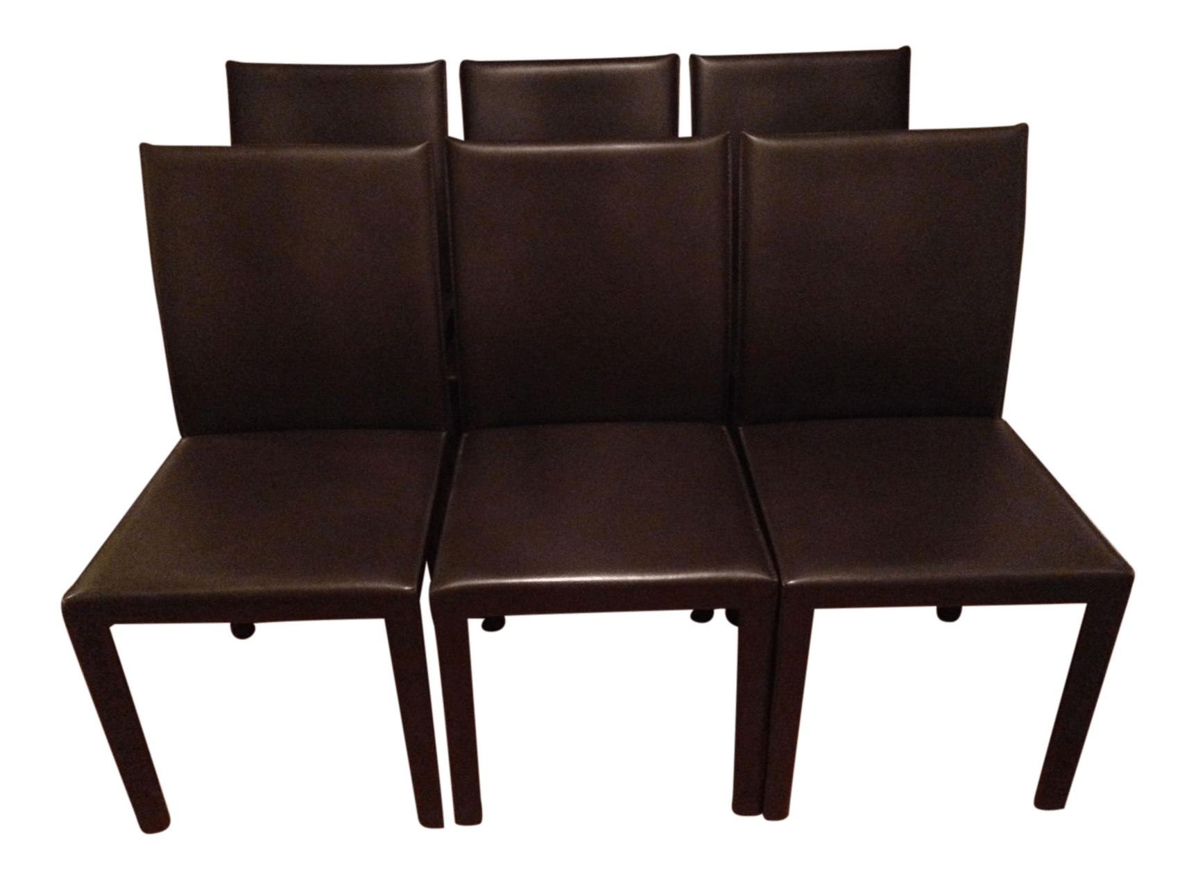 crate and barrel chairs dining chair covers for wedding leather set of 6 chairish
