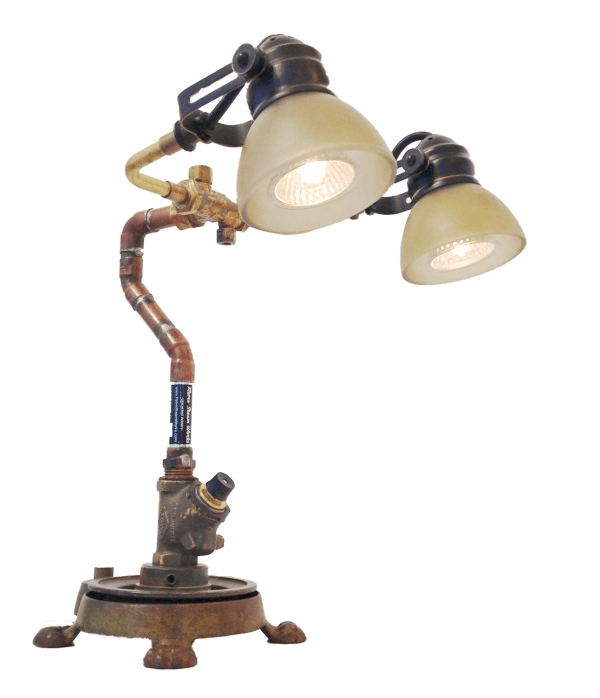 Object Assemblage Steampunk Lamp