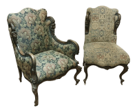 19th Century Victorian Tapestry Chairs - A Pair | Chairish