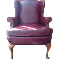 Red Leather Wingback Chair Rocky Folding Chairs Hickory Furniture Wing Chairish