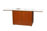 Mid-Century Fold-Out Bar Cabinet | Chairish