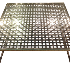 Chair Cba Steel Lunchroom Chairs Canada Modern Stainless Lattice Top Coffee Table Chairish