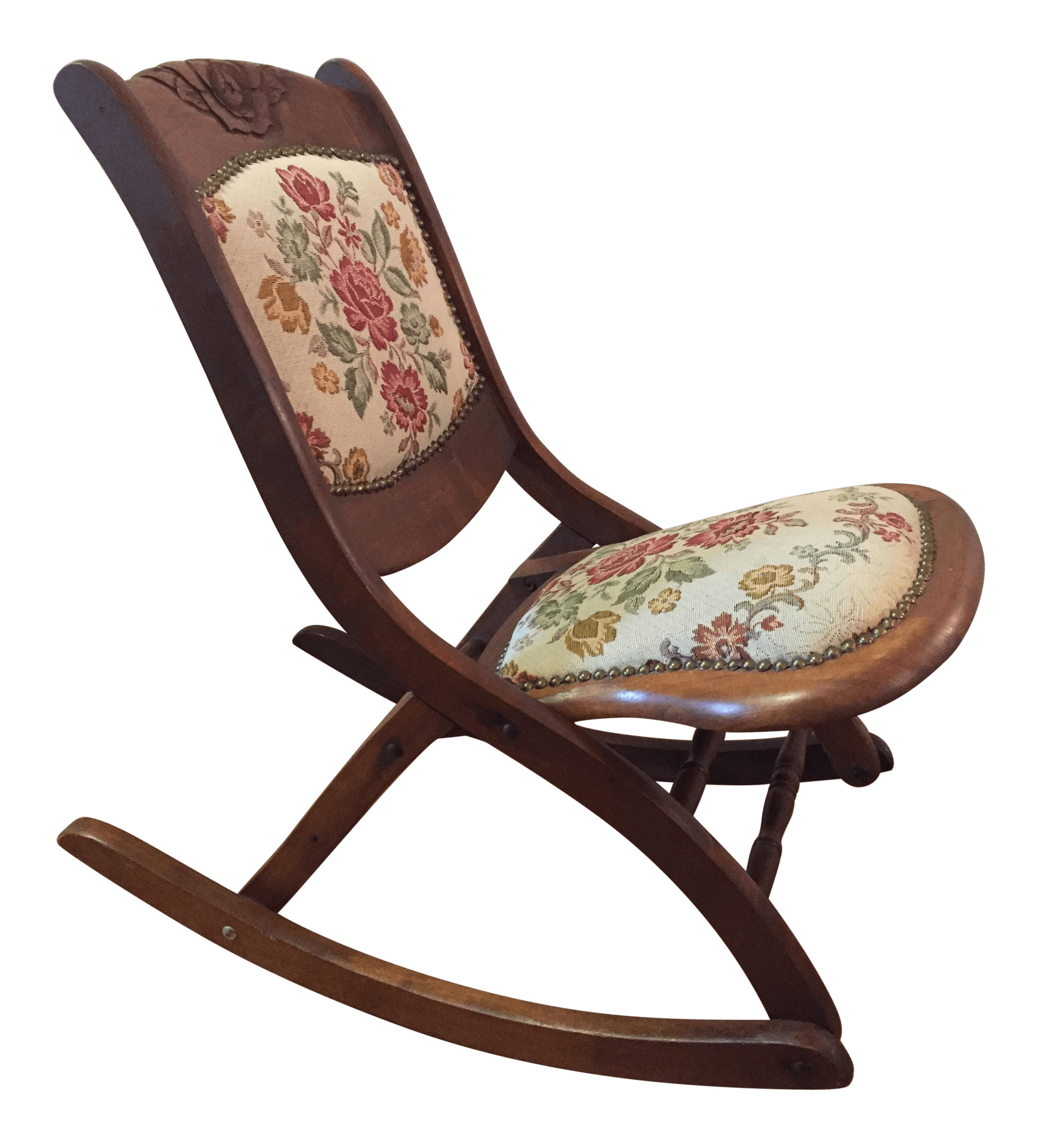 design within reach rocking chair amish made chairs vintage folding needlepoint chairish