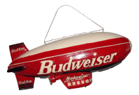 Budweiser Bud One Blimp Wooden or Hard Resin (Not an