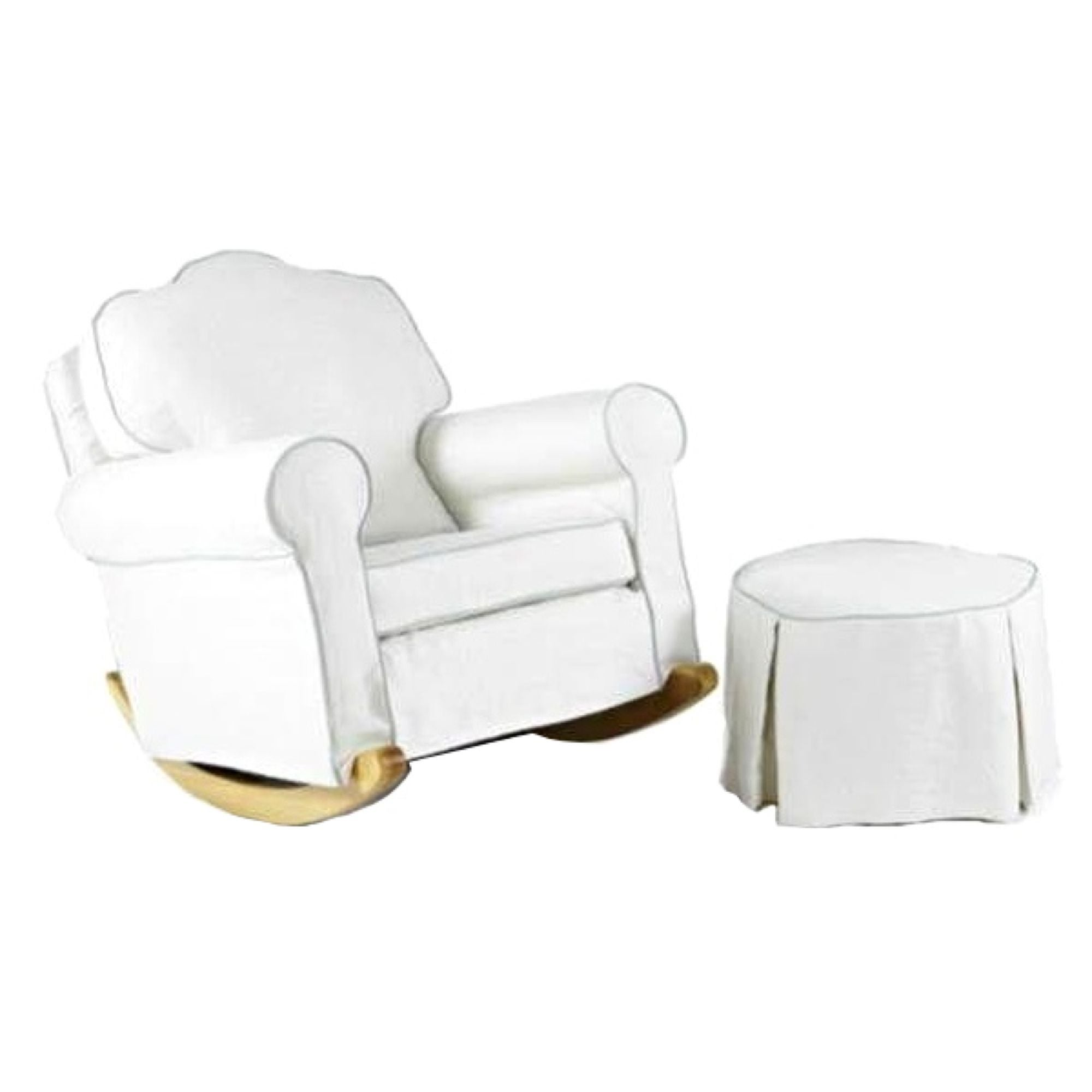 rocking chair and ottoman set revolving dimensions upholstered chairish