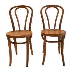 French Bentwood Cafe Chairs Dining Chair Seat Covers John Lewis Thonet Style Pair Chairish