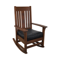 Antique Mission Oak Rocking Chair | Chairish