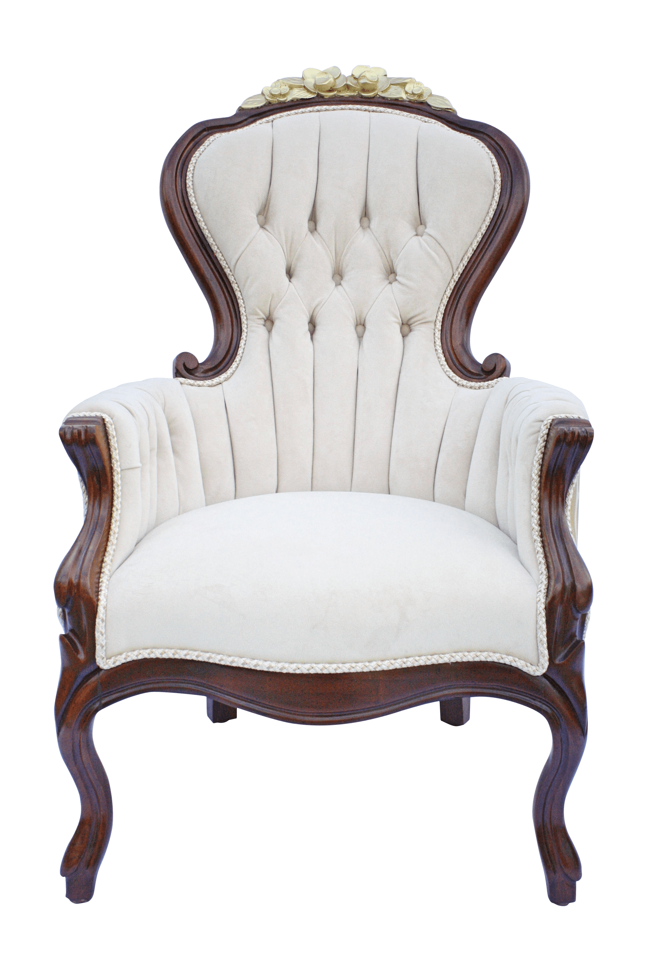 victorian accent chair bamboo back chairs cream velvet and gold parlour chairish