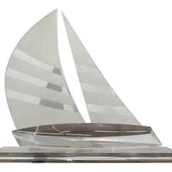Design Within Reach Rocking Chair Dining Room Covers Walmart Lucite Sailboat Sculpture | Chairish