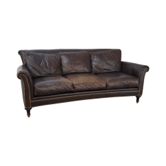 Ferguson Copeland Leather Sofa Sofas Good Quality Surrey Brown Chairish