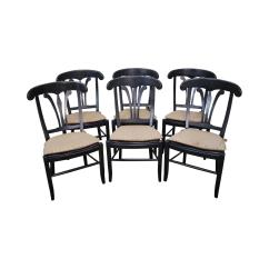 Nichols And Stone Dining Chairs White Round Table 6 Country Manor Set Of