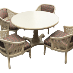 Barrel Dining Chairs Set Of 2 Stressless Reviews Vintage Cane Chair 4 Chairish