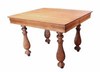 Oak Turned Leg Dining Table   Chairish
