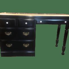 Heywood Wakefield Dogbone Chairs Graywash French Bistro Dining Table. Mid Century Modern Table Whalebone Room Rare ...