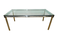 Mid-Century Modern Chrome & Glass Dining Table | Chairish