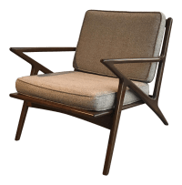 Mid-Century 'Z' Chair | Chairish