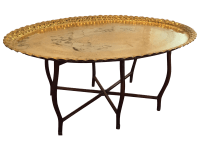 Large Oval MCM Brass Tray Coffee Table | Chairish