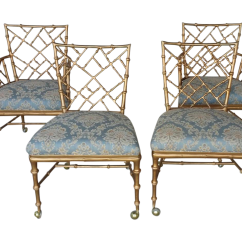 Chippendale Rocking Chair Blow Up High Phyllis Morris Style Chinese Chairs 4 Chairish