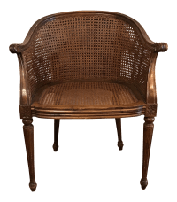 Antique Caned Chair | Chairish